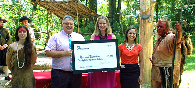 Henricus Receives Education Grant from Dominion