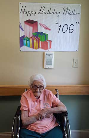 Minnie Susie Elliott celebrates 106 years