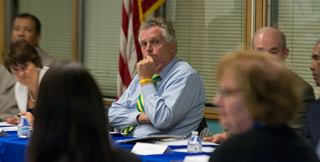 Gov. McAuliffe Hears from Teachers at Bellwood
