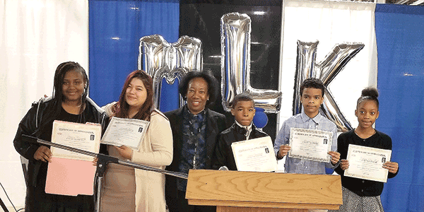 Students receive top honors for regional MLK Jr. art and essay contest