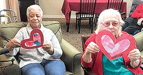 C.C. Wells students help at assisted living home