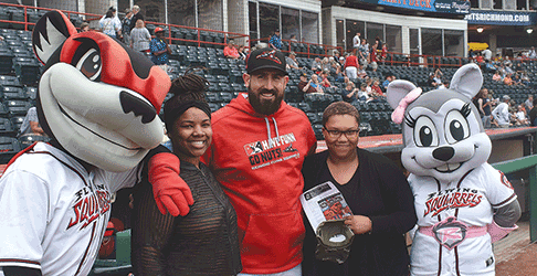 Carver Academy students attend Flying Squirrels' game