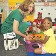 First lady helps with environmental education