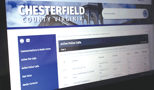 County offers computer access to fire and police calls