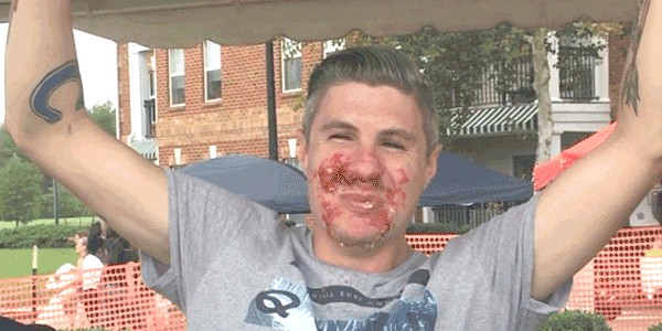 Cherry pie-eating contest winner
