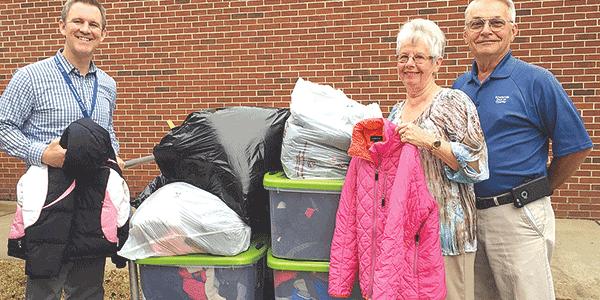 Kiwanis Club donates coats to children