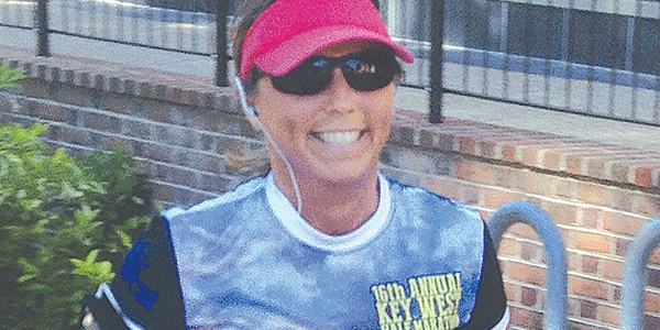 Running helps woman cope with cancer
