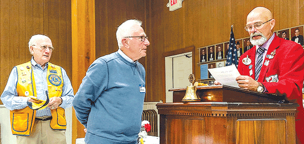 Jones honored at Lions Club meeting; The late Goodwyn was also to be recognized