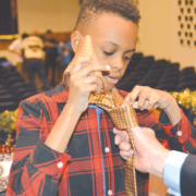 Necktie ceremony continues at Falling Creek Middle School