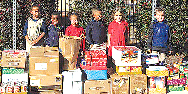 Primrose students collect goods for food bank