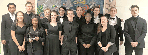 Thomas Dale students with All-County Symphonic Band