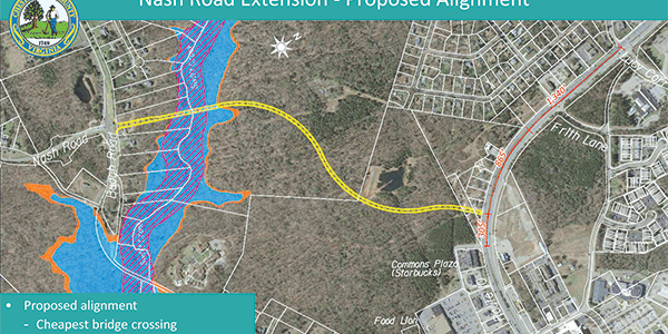 County chooses modified route for Nash Road Extension