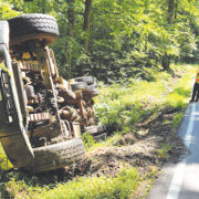 Dump truck spills load on Nash Road