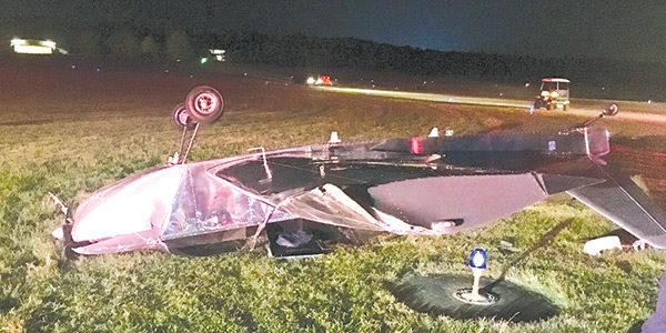 Pilot injured in crash