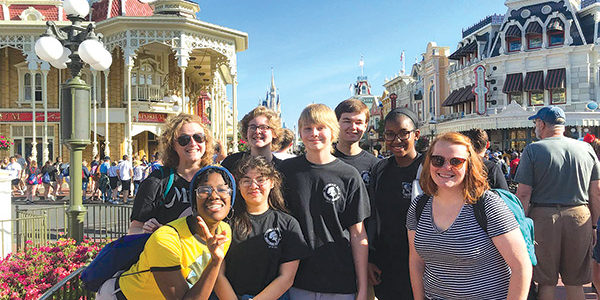 Marching Knights perform in Disney parade