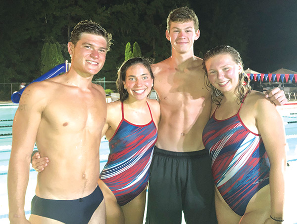 New medley relay records