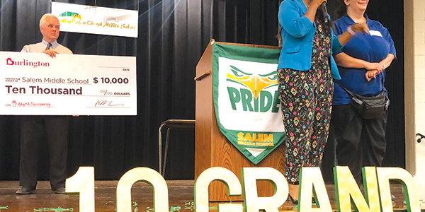 Burlington gives $10K to teachers