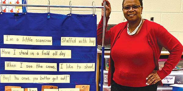 Robenson enjoys teaching kindergarten