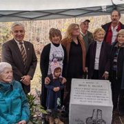 Chesterfield honors preservationist with memorial dedication at Falling Creek Ironworks